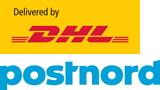 DHL logga PostNord logga