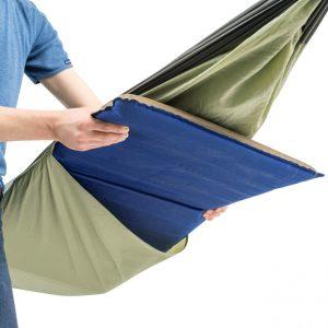 Amazonas Moskito Traveller hammock thermo, detalj fack för liggunderlagg