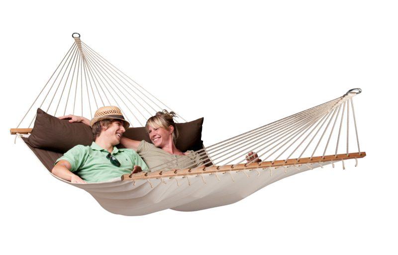 La Siesta Alabama arabica - vadderad kingsize hängmatta perfekt för två