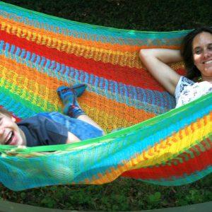 Macamex Mexicana multicolor Matrimonial - näthängmatta för två