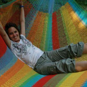 Macamex Mexicana multicolor Matrimonial - stor näthängmatta