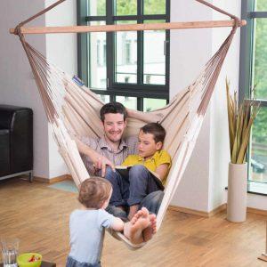 La Siesta Habana Lounger nougat - stor hängstol för hela familjen