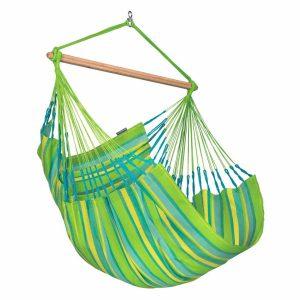 LA SIESTA Domingo Comfort hängstol Lime - vädertåligt