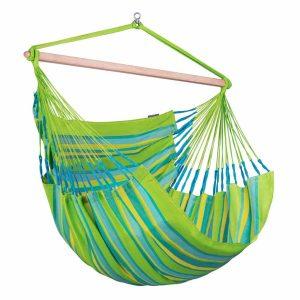 LA SIESTA Domingo Lounger Lime - vädertålig hängstol