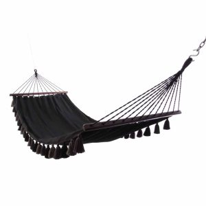 Lazy Rest hängmatta Tassel black